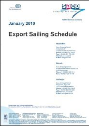Export Sailing Schedule - SACO Shipping GmbH