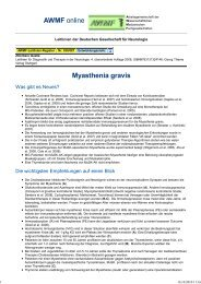 030-087 S1 Myasthenia gravis 10-2008 10-2013 - AWMF
