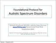 Foundational Protocol for Autism and Chronic Illness - Klinghardt ...