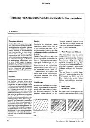 Wirkung von Quecksilber auf das menschliche Nervensystem