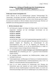 Anlage zum Antrag nach der Richtlinie Natur und
