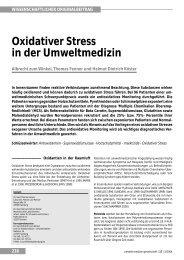 Oxidativer Stress in der Umweltmedizin - Dr. med. Albrecht zum ...