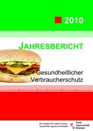 Jahresbericht Gesundheitlicher ... - LMTVet - Bremen