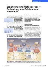 Ernährung und Osteoporose – Bedeutung von Calcium und Vitamin D