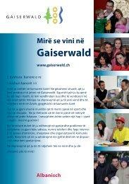 Mirë se vini në Gaiserwald - Integration