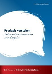 Psoriasis verstehen - Informationsbroschüre und Ratgeber | PDF