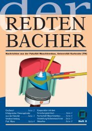 Heft 5 - Fakultät für Maschinenbau