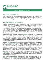 Info-Brief Vitamin D-Mangel im Alter - Gesundheitsamt Bremen