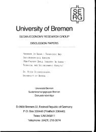 University of Bremen - Institute for World Economics and ...