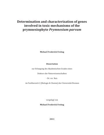Determination and characterization of genes involved in toxic ...