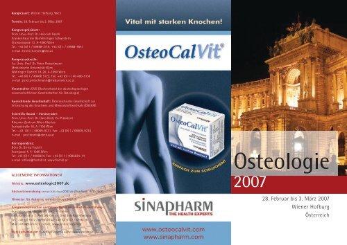 Osteologie 2007 Flyer - OsteoCalVit