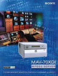 24319 Sony Mav-70XGI.for sony - BroadcastStore.com