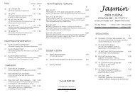PDF Speisekarte - Jasmin Asia Cuisine