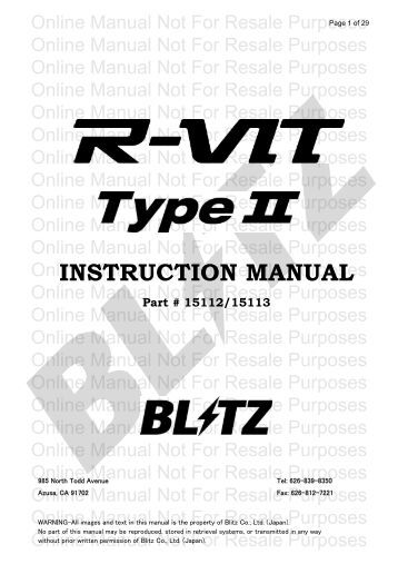 R-VIT Type 2 - blitz power usa site