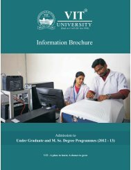 Information Brochure - Vellore Institute of Technology