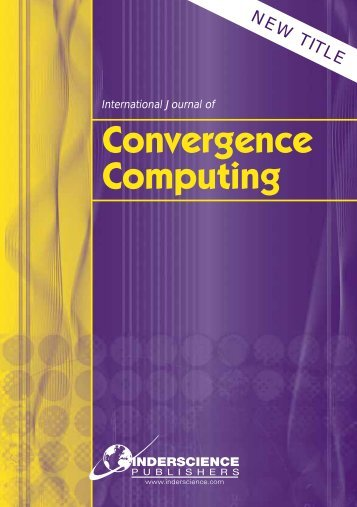 Convergence Computing - Inderscience Publishers