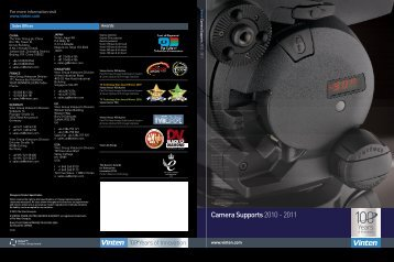 Vinten Camera Support Brochure