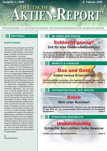 Schlechte Nachrichten, hohe Gewinne - Deutscher Aktien-Report