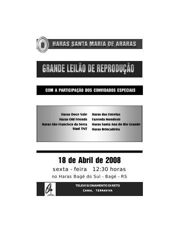 SANTA MARIA DE ARARAS - Bagé (18 Abril - RS