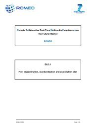 Remote Collaborative Real-Time Multimedia Experience ... - Romeo