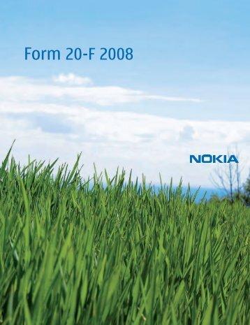 Form 20-F 2008 - Nokia