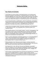 Electronic Hotline Das Elektronik-Zeitalter - eBooks und Software ...