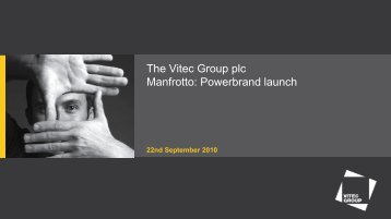 Powerbrand Launch - Vitec Group Plc