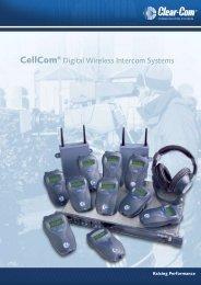 Clear-Com CellCom Wireless Brochure - stagecraft fundamentals