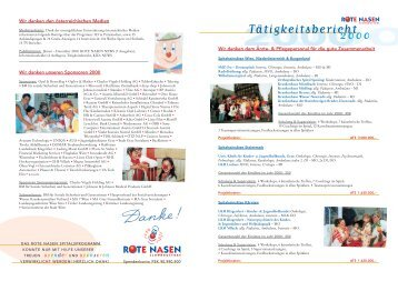 Jahresbericht 2000 - ROTE NASEN Clowndoctors