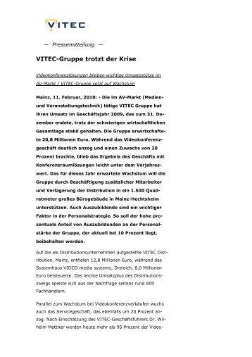 VITEC-Gruppe trotzt der Krise - VIDCO media systems
