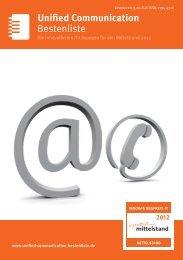 Bestenliste Unified Communication - IT-Bestenliste