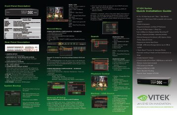 VT-EH Series Quick Installation Guide - Vitek