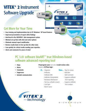 VITEK® 2 Instrument Software Upgrade - bioMerieux