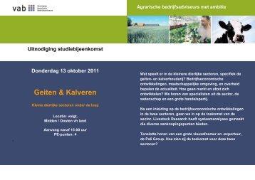 Uitnodiging en programma Geiten en Kalveren 13 oktober - VAB