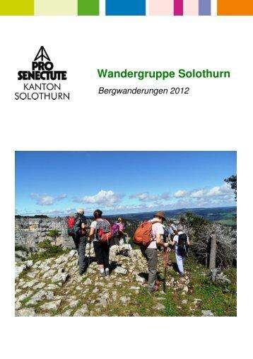 2012 Bergwanderung SO - Pro Senectute Kanton Solothurn