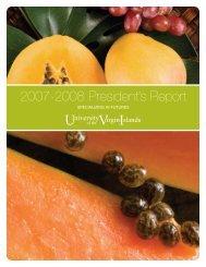 2007-2008 President's Report - University of the Virgin Islands