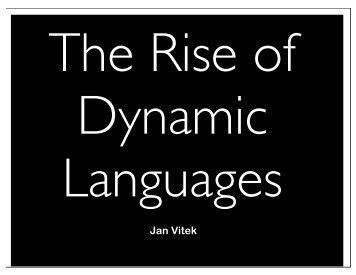 Jan Vitek - Microsoft Research