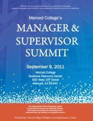 September 9, 2011 Merced College's - Central Region Consortium