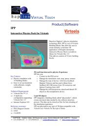 IPP Interactive Physics Pack for Virtools