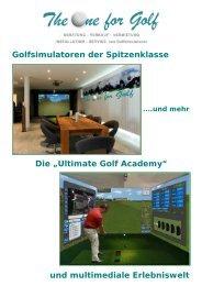 Course Library - Indoor Golfsimulator mit 3D Messung und Darstellung