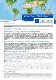 Weekly Export Risk Outlook - Euler Hermes