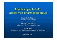 Infection par le VIH: atelier viro-pharmacologique - Infectiologie