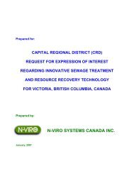 N-VIRO SYSTEMS CANADA INC. - Capital Regional District