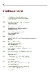 EJB 2010, Inhaltsverzeichnis - Eifelverein