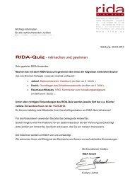 Rida-Quiz - mitmachen und gewinnen