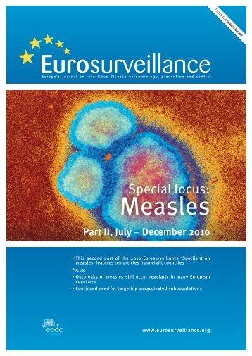 Measles - Eurosurveillance