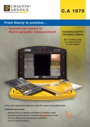 CA 1875 THERMOGRAPHY TRAINING BENCH - Invirotech