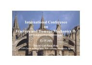 International Conference on Fracture and Damage Mechanics IV