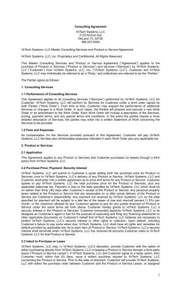 Novell Consulting Master Agreement