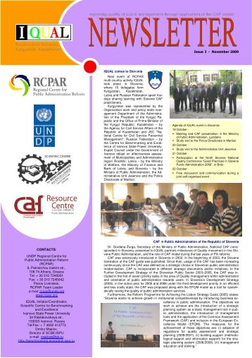 the IQUAL Newsletter Issue 3 - Rcpar.org
